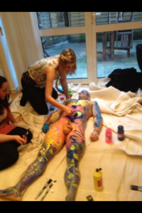 Body Painting hen party classes Madame Peaches Hen Parties