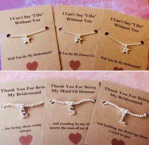 Maid of Honour/Bridesmaid - 5 cute gift ideas Madame Peaches Hen Parties